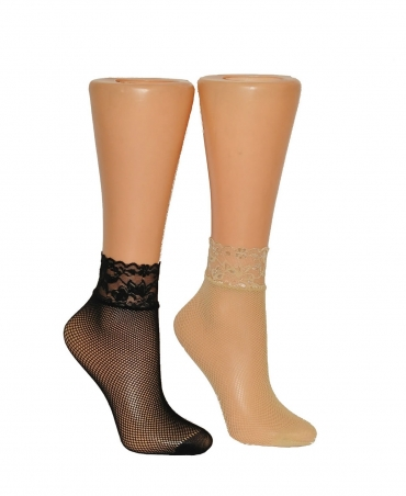 <p>Women's socks, fishnet tights with a small eyelet. Non-compressive lace welt, reinforced on the fingers.</p>