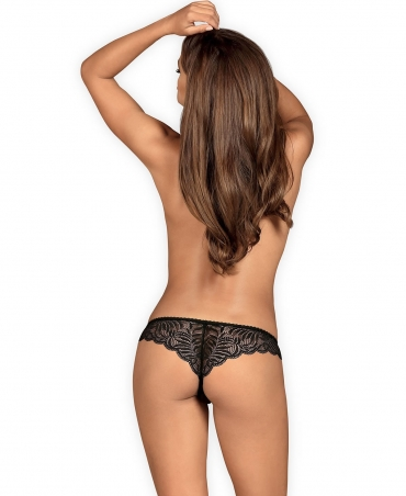 Contica crotchless thong color: black