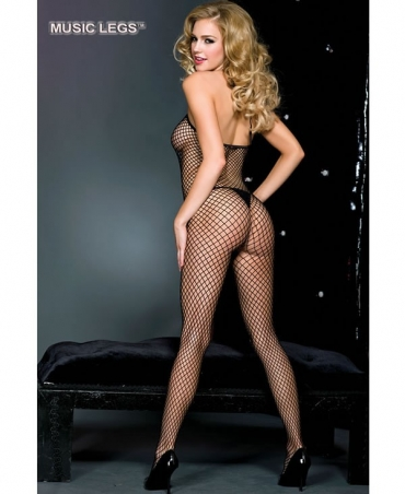 Music Legs: mini diamond net bodystockings