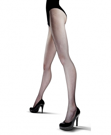 <p>Women's fishnet tights with a small eyelet. Flat seams, cotton gusset.</p>