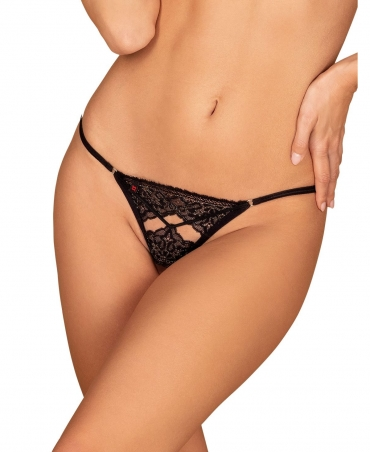 Obsessive Meshlove crotchles thong color: black