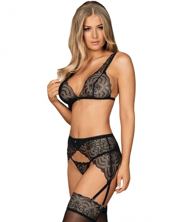 <p>Sense and Sensibility? Not here! Black lingerie is a must-have in every woman's wardrobe. Try Firella set with an incredibly sexy garter belt. You'll finally reveal your fantasies…</p>