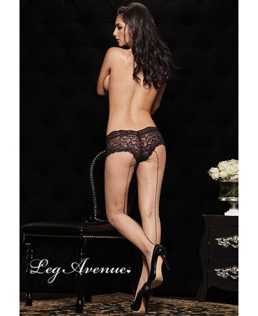 Pantyhose w/back seam and boy short lace top