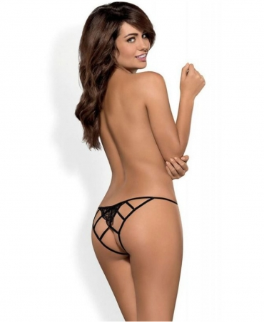 Obsessive Miamor crotchless panties color: black