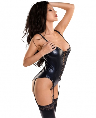 Body with suspenders and front lacing