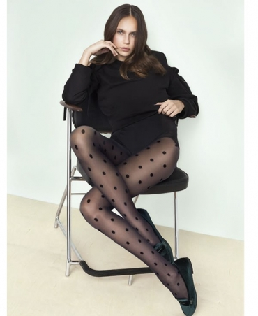 <p>Patterned, transparent, t-band tights with a comfortable ribbing and a flat seam.</p>