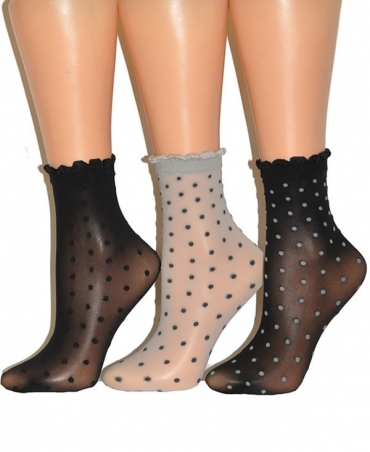 <p>Thin, velvet to the touch women's socks with non-compressive delicate ribbing</p>