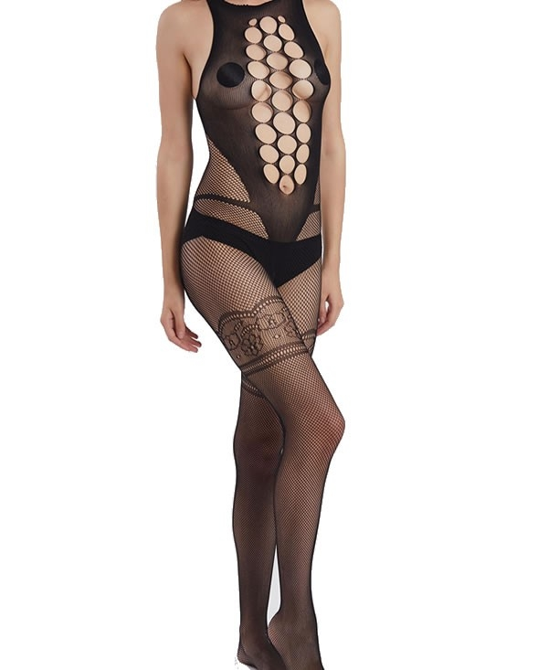 Bodystocking with cut outs