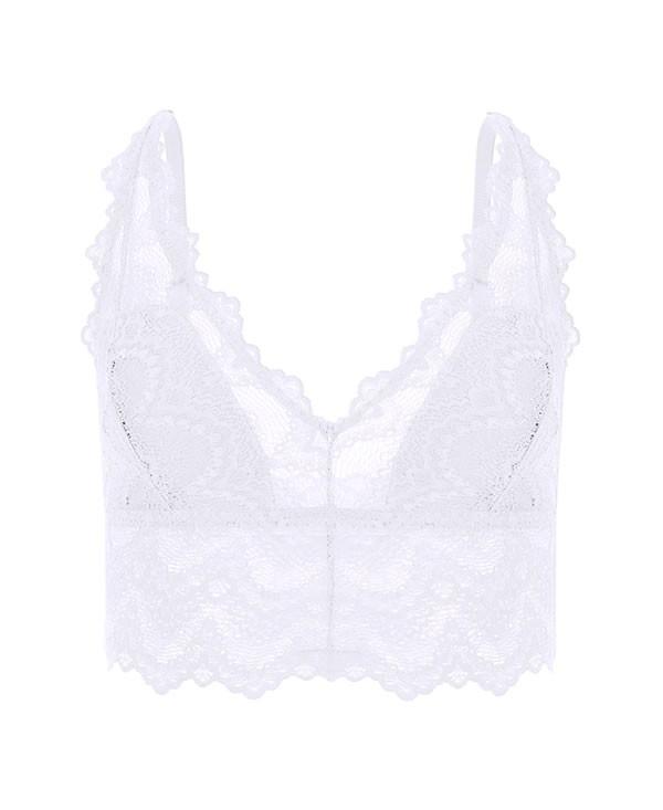 Lace bra white