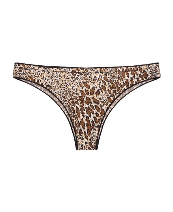 Brief in animal print