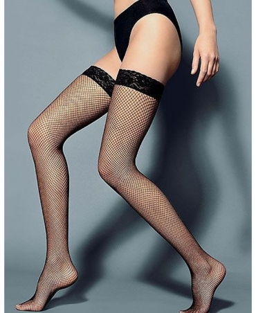 <p>Fishnet stockings, small eye, finished with decorative lace on silicone.</p>