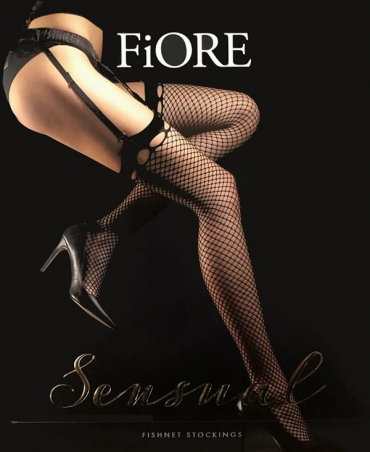<p>Waist stockings, fishnet stockings with eye-catching thighs. Reinforcements on the fingers</p>